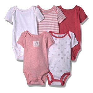 Lamaze Baby Girl 5 Pc 100% Organic Cotton Bodysuit